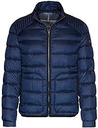8400eec812d9 Bugatti Herren Jacke Steppjacke Blouson Rot Blau Grau Braun Techno Daune  Stehkragen 100% Polyamid