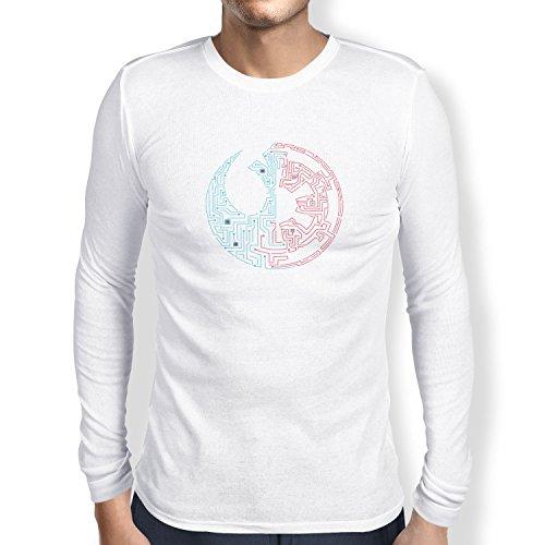 TEXLAB - Geteilte Galaxie - Herren Langarm T-Shirt Weiß