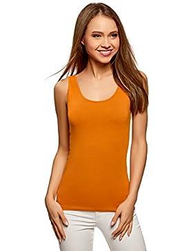 oodji Collection Mujer Camiseta de Tirantes Básica