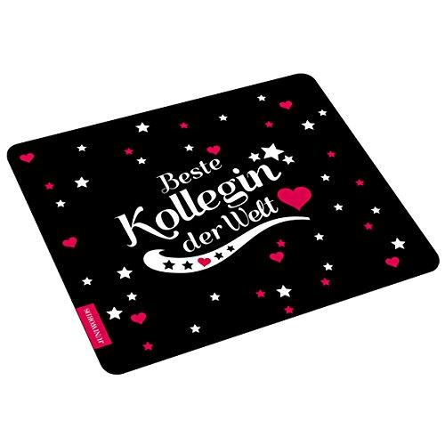 """Wandkings Mousepad / Mauspad mit Schriftzug """"Beste Kollegin der Welt"""" - ideales Geschenk für die Kollegin"""