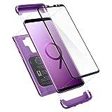 spigen Compatible con Galaxy S9 Plus Thin Fit 360 Protección Protector de Pantalla de Vidrio Templado -Lilac Purple
