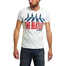 Beatles T-Shirt - The Beatles Shirt - Abbey Road T-Shirt - Rundhals T-Shirt von Logoshirt - pastellblau - The Fab Four - Lizenziertes Originaldesign