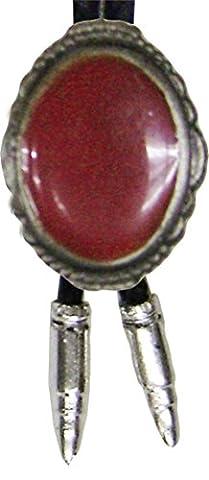 Modestone Unisex Bolo Decorative Red Stone