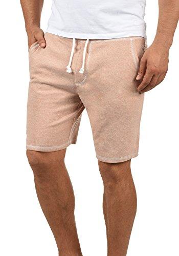 !Solid Toljan Herren Sweatshorts Kurze Hose Jogginghose Mit Melierung Und Kordel Regular Fit, Größe:L, Farbe:Mahagoni Rose Melange (4203M)