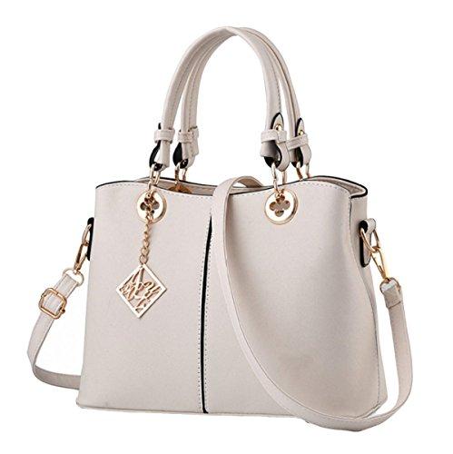 Handtaschen Mode Casual Handtaschen Umhängetasche Messenger Bag Handtaschen Modische Mode White