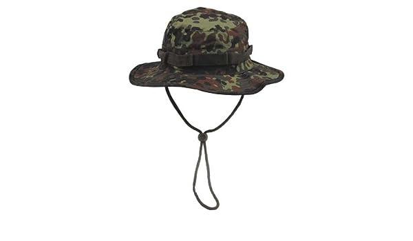 95e562dfc9d armyoutdoorshop MFH Camouflage Boonie Hat Australian Bush Hat Tropical Hat  Bucket Hat with Chin Strap