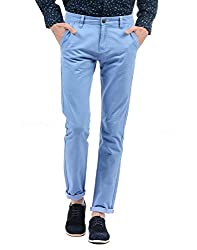 Pepe Jeans Men Solid Trouser(_8907557199527_Sky_28_)