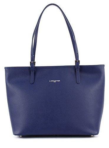 42144BLEUFONCE Lancaster Sacs de shopping Femme Cuir Bleu Bleu Fonce (Blau)