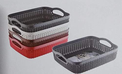 Nayasa Plastic World Rope Mini Multipurpose Basket without lid (Multicolour)...