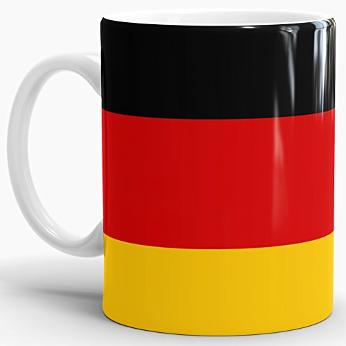Tassendruck Flaggen-Tasse Deutschland - Kaffeetasse/Mug/Cup - Qualität Made in Germany