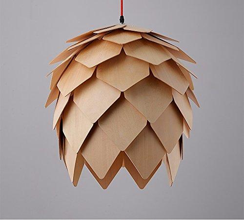 VanMe Nordico Lampadario Sala Da Pranzo Solido Legno Pine Cone
