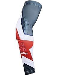 COOLOMG (1 pieza) para jóvenes adultos de compresión acolchado Baloncesto tirador de la manga del codo del brazo calentadores de protección 24 Gran Estrella XL