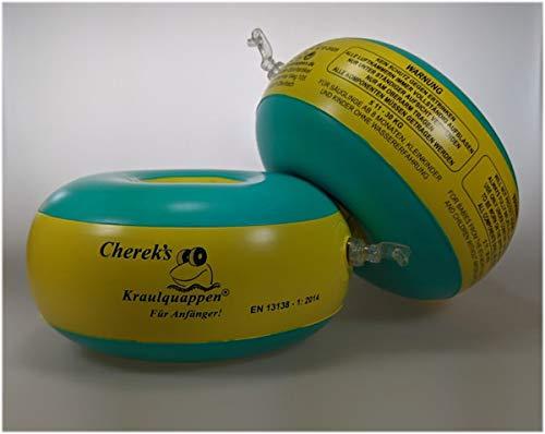 Kraulquappen Cherek´s Anfänger grün/gelb Schwimmflügel für Kinder Babys ab dem 8 Monat bis 30kg