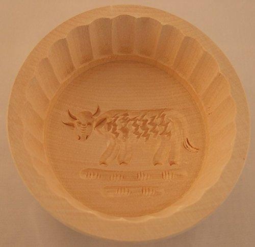 Gravidus Butterform aus Ahornholz rund Kuh 250 g