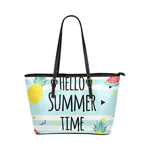 Hallo heiße kühle hallo Sommer große weiche Leder tragbare Handgriff Handhandtaschen Taschen kausale Handtaschen mit Schulter Einkaufen Geldbeutel Gepäck Organisator für die Arbeit der Dame Mädchen