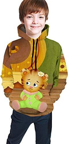 Meethee felpa da bambino con cappuccio daniel tiger's neighborhood teen long sleeve hooded sweatshirt for boys and girls