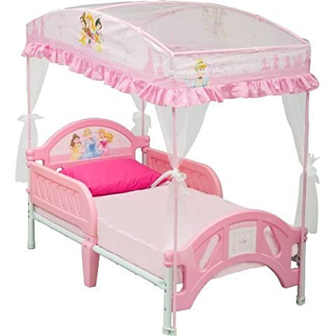 Disney Princess Toddler Bed with Canopy by Delta Children - Canopy Toddler Crib
