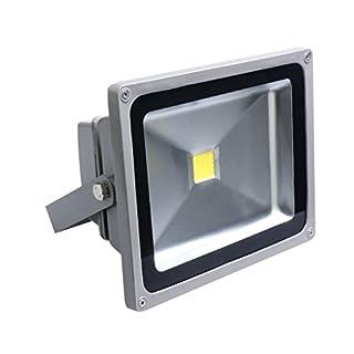 Auralum Energy Saving 30W IP65 LED Waterproof Floodlight High Power White(6000K) Outdoor Spotlight Gray