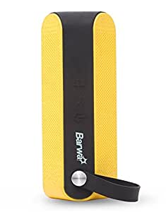 Barwa BS01 Water Resistant Portable Bluetooth Speaker (Black and Yellow)