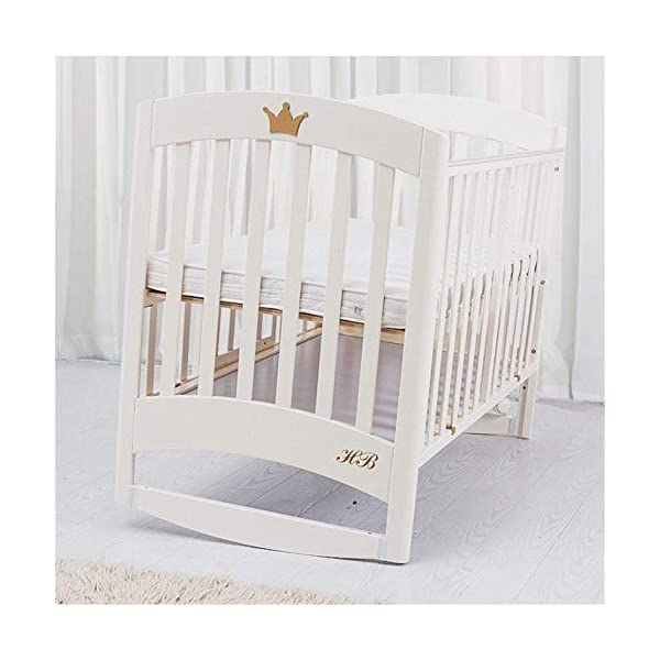Solid Wooden Baby Cot,toddler Bed, Multifunctional White Cradle Bed Newborn Stitching, Height Adjustable HXYL Package contains bed, mosquito net, mosquito net pole, moving caster, kit Split panel for connecting to a large bed Three heights are adjustable to suit your child's different needs 8