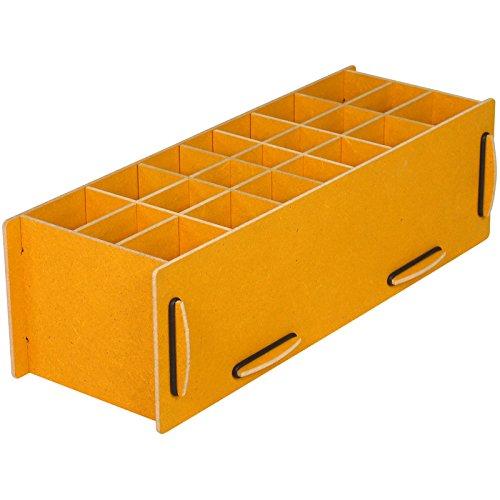 Werkhaus Stiftebox XL gelb, Holzwerkstoff