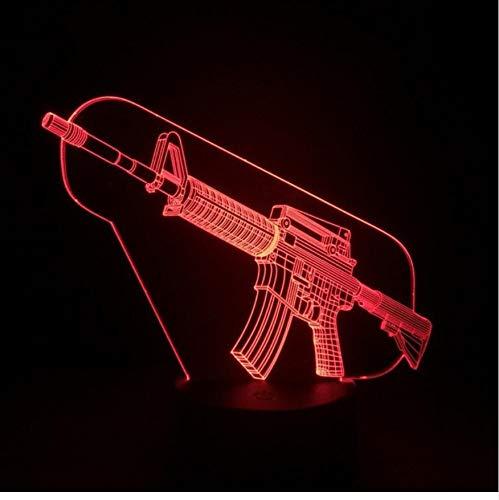 Nachtlicht Optische Täuschung Lampe Led 3D Acryl Kinderzimmer Usb Touch Sensor Kind Kinder Geschenk Spiel Waffe Pistole Tischlampe Schreibtisch