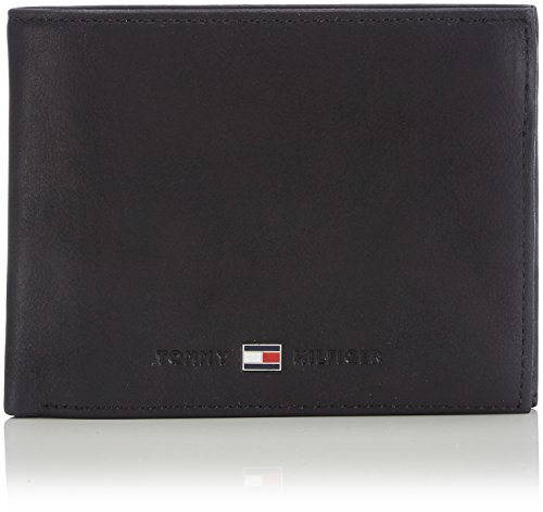 Tommy Hilfiger Herren JOHNSON CC FLAP AND COIN POCKET Geldbörsen, Schwarz (BLACK 002), 13x10x2 cm