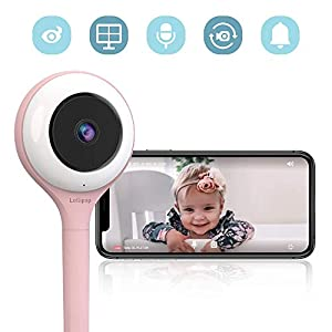 Lollipop HD WiFi Video IP Indoor Camera for Baby, Compatible with iOS & Android, Supports 2 Cameras and Up, Night Vision,2-Way Talk Back- Baby Boy Girl Shower Gifts (Cotton Candy)   5