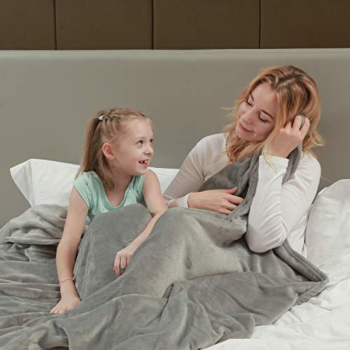 softan Flanell Decke Nicht Versch¨¹tten Weich Werfen Decke 260GSM Leichte kuschelige Bettdecke passend f¨¹r Couch Sofa passend f¨¹r die ganze Saison, Grau 150 * 200CM