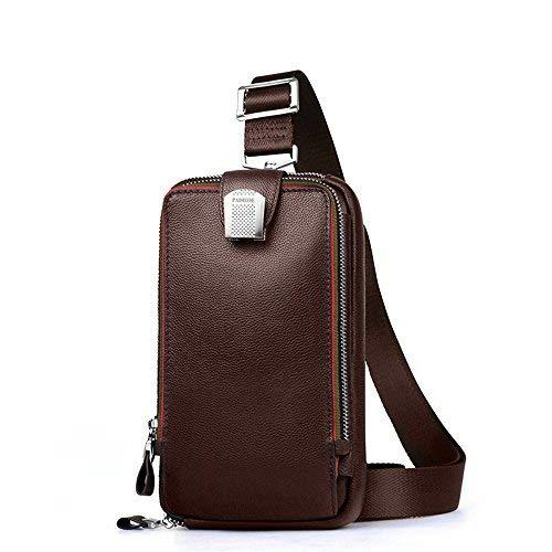 Echtleder Herren Sling Rucksack Sling Bag Pack Herren Brusttasche Messenger tasche Umhängetasche aus echtem Leder Herren Handtasche Crossb...