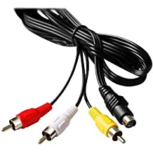 SODIAL(TM) 7 PIN Cable TV S-VIDEO a 3 RCA