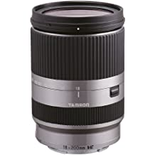 Tamron B011S AF 18-200 mm F/3,5-6.3 - Objetivo para Sony/Canon (distancia focal 18-200mm, apertura f/3.5-6,3, estabilizador óptico, macro, diámetro: 62mm) plateado