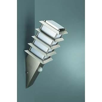 Edelstahl Außenwandleuchte Außenwandlampe Außenleuchte Außenlampe Hauslampe Hausleuchte Wandlampe Wandfackel Fackel Lampe Leuchte mit 18W Energiesparlampe ESL und IF / Infrarot Bewegungsmelder