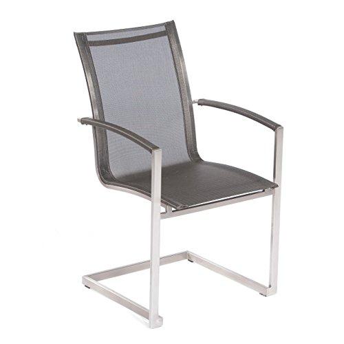 Sonnenpartner Freischwinger-Sessel Millenium Edelstahl metallic-grau 80050636