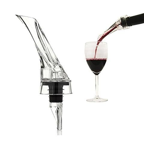 Easywin Rouge Aérateur de vin Decanter verseur Olécrane Voyage une main réservoirs Bec verseur
