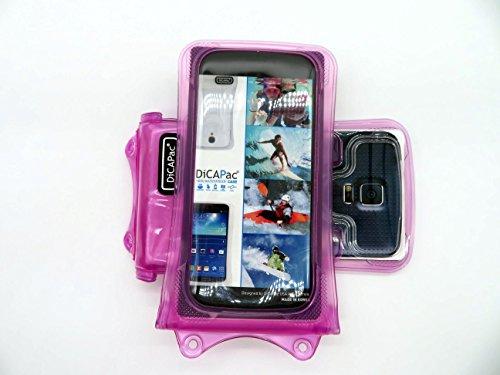HTC 8XT / Droid DNA / Evo 4G LTE / First / J Handyhülle / Handytasche - wasserdicht - Rosa (Doppel-Klettverschluss, IPX8-Zertifizierung zum Schutz vor Wasser bis 10 m Tiefe, integriertes Luftkissen treibt auf dem Wasser & schützt das Gerät; extraklare Polycarbonat-Fotolinse; inkl. Trageriemen) (4g Htc Handy Lte Evo)