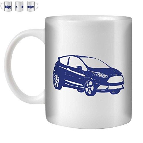 STUFF4 Tee/Kaffee Becher 350ml/Blau/13 Fiesta ST/Weißkeramik/ST10 -