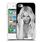 Head Case Designs Offizielle Britney Spears Porträt Schwarz Und Weiss Ruckseite Hülle für iPhone 4 / iPhone 4S