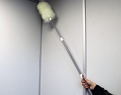 100-laine-dagneau-vritable-duster-avec-une-double-poigne-tlescopique-sparegetti