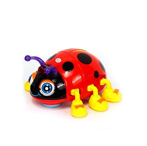 (Frühe Bildung 3jährigen Baby Spielzeug Smart Käfer mit Licht Musik elektrischen D Marienkäfer für Kinder & Kinder Jungen und Mädchen)