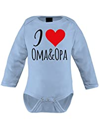 Mikalino Babybody I love Oma & Opa langarm