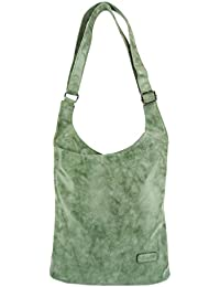 CASAdiNOVA Damen Umhängetasche Handtasche Schultertasche Große Tasche Modern Crossover Bag Vegan Leder -Farbauswahl- (25 x 28 x 9cm)
