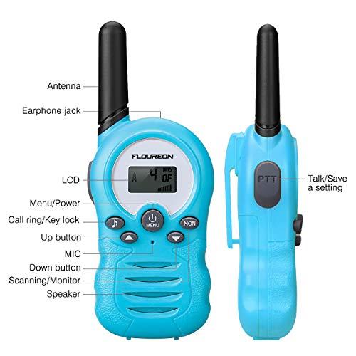 Zoom IMG-1 floureon ricetrasmittente walkie talkies bambini
