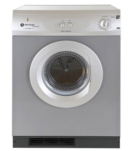 White Knight C44A7S 7kg Vented Tumble Dryer with Reverse Action in Silver