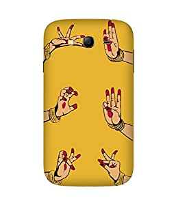 Indian Dance Hand-2 Samsung Galaxy Grand 3 Printed Back Cover
