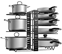 Adjustable The Metal Pot Holder's Height And Position are Adjustable, Provides You More Options to Organize Pots with Different Sizes.