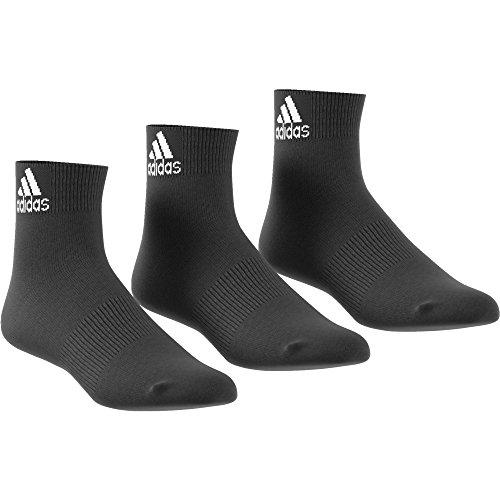 adidas Herren Knöchelsocken Performance dünne 3 Paar, Black, 51-54, AA2321 (Performance-knöchel-socken)