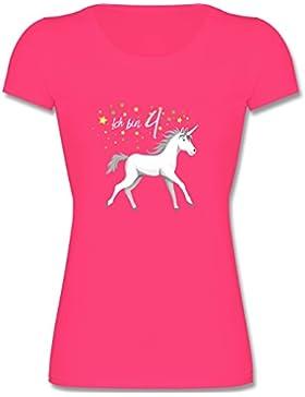 Geburtstag Kind - 4. Geburtstag Einhorn - Kinder Mädchen T Shirt leicht tailliert