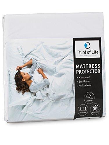 Matratzenschoner 90x200 wasserdicht | Atmungsaktive Matratzen-Auflage | Anti-Milben Bezug unter Spann-Bettlaken | Wasserundurchlässiger Matratzenschutz | Hygienischer Matratzen-Topper 90 x 200 cm