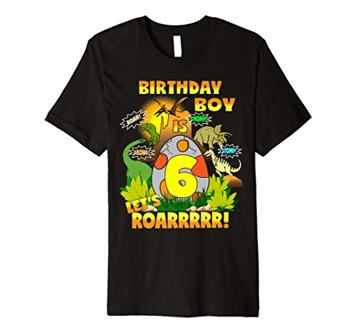 Jungen Dinosaurier Geburtstag Shirt Alter 6 Party Thema Outfit